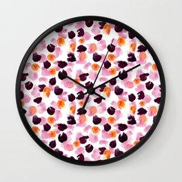 Paint Daub Floral Wall Clock