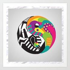 Yin Yang Art Print