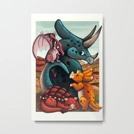 DinoTime Metal Print