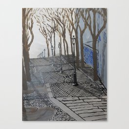 Stairs in Montmartre (Escalier de la butte Montmartre), Paris 18e Canvas Print
