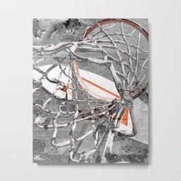 Basketball Artwork Backstreet Metal Print