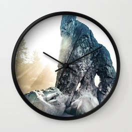 Protector Of Ruby Beach Wall Clock
