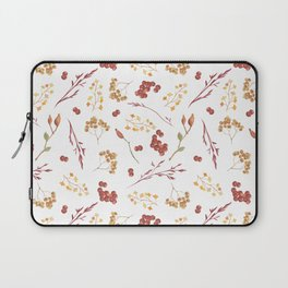 Autumn yellow orange pink red watercolor fall leaves berries Laptop Sleeve