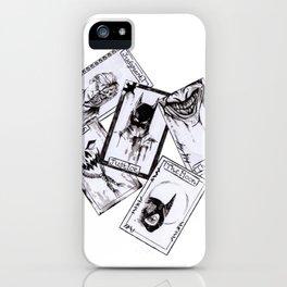 A Gotham Tarot Reading Inktober Drawing iPhone Case