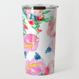 Loose Floral Pattern P4 Travel Mug