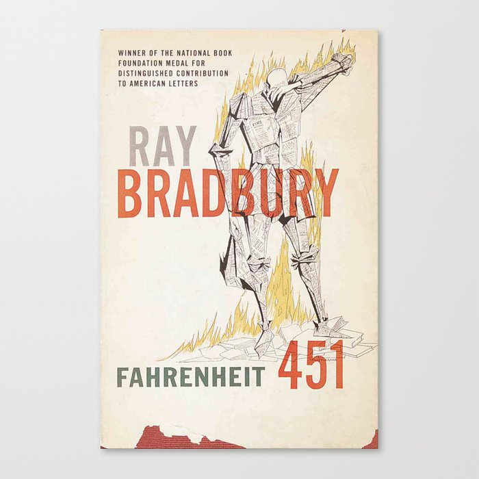 Fahrenheit 451 Book Cover Canvas Print