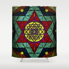 Sacred Geometry for your daily life- SRI YANTRA Shower Curtain