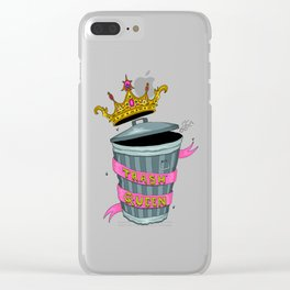 Trash Queen Clear iPhone Case