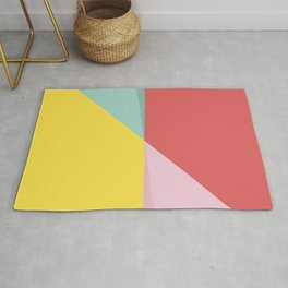 Abstract Pastel Perspective Rug