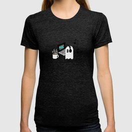 Chilling Napstablook With Laptop and Coffee Undertale Pixel Art Cute T-shirt