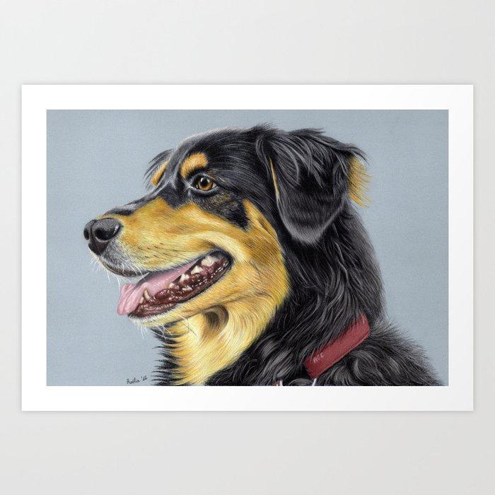 Dog Portrait 01 Art Print