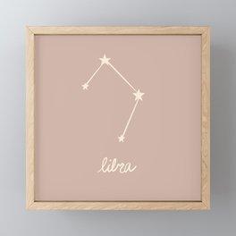 Libra - Zodiac Constellation Framed Mini Art Print