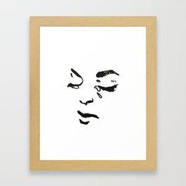 Sad Babe Detail Framed Art Print