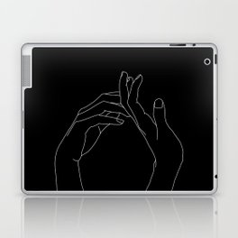 Hands line drawing illustration - Abi black Laptop & iPad Skin