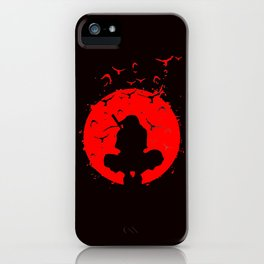 Itachi Uchiha Sadow of Red iPhone Case