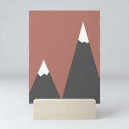 Pink Mountains Mini Art Print