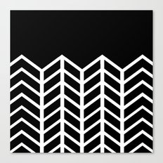 BLACK LACE CHEVRON Canvas Print