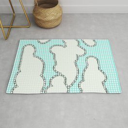 Paint by Number Clouds  Rug