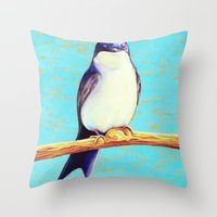 swallow Throw Pillows featuring Swallow by Pincay