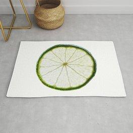 slice of lime Rug