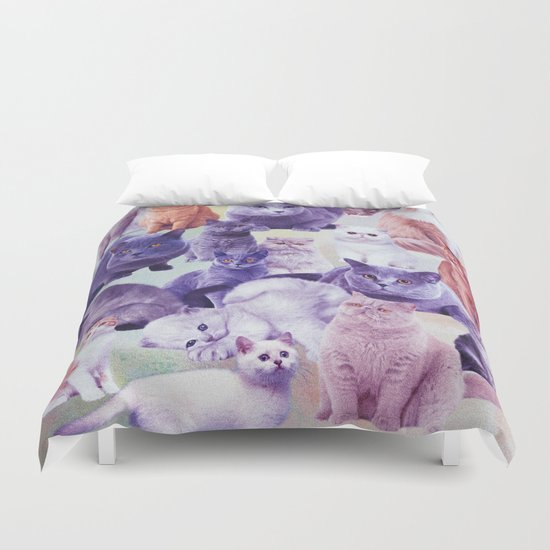 cats portrait Duvet Cover