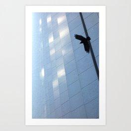 Covid Shadow Flying Across Aon Center Art Print