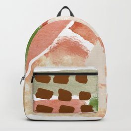 Ebb and Flow Abstract Shapes Backpack