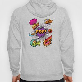 Cool 90s Design Pattern with Memes Hoody