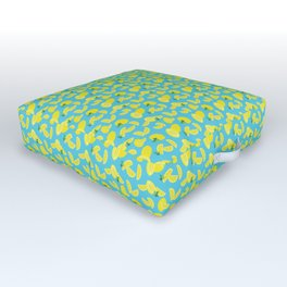 Lemoncello Teal Outdoor Floor Cushion
