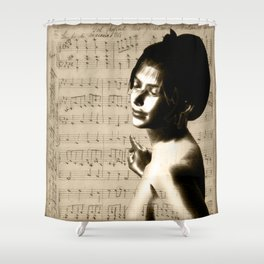 Music Lover National Anthem of New Zealand Shower Curtain
