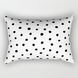 Polka Dot White Background Rectangular Pillow