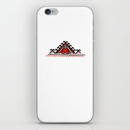 ethnic motif black&red iPhone Skin