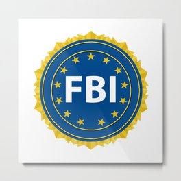 FBI Seal Metal Print