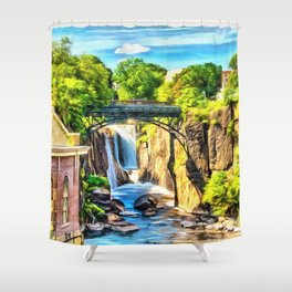 Paterson Great Falls in National Historical Park Shower Curtain