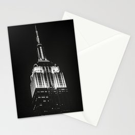 Dramatic Empire State Building in New York City at night Stationery Cards