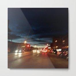 Blurry NYC Nights Photography Metal Print