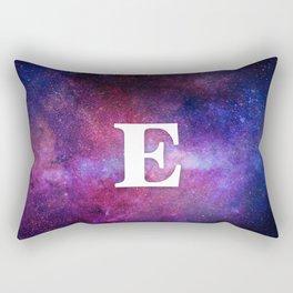 Monogrammed Logo Letter E Rectangular Pillow