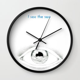 I see the sea Wall Clock