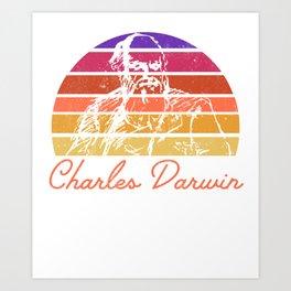 Charles Darwin Naturalist Environmental  Art Print