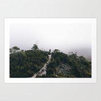 Hiking in Tasmania Art Print