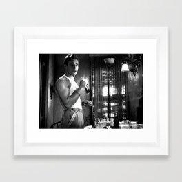 Marlon Brando as Stanley Kowalski  in the film A Streetcar Named Desire (Elia Kazan - 1951) Framed Art Print