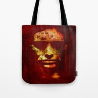 witch Tote Bags featuring witch by Ganech joe