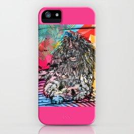 Poodle 2 pop art iPhone Case