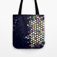 scandal Tote Bags featuring scandal texture by Laura Ferro