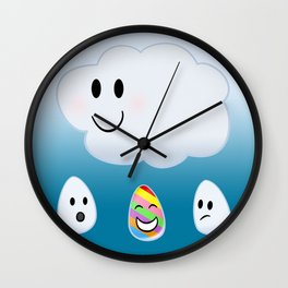 Refracting Rainbow Raindrop by Squibble Design Wall Clock