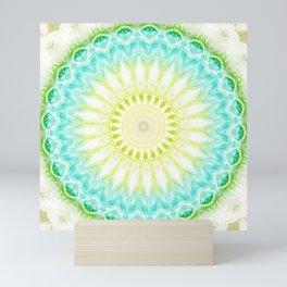 Mandala fresh turquoise     Mini Art Print