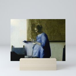 Vermeer, woman reading a letter,Mujer leyendo una carta,Brieflezende vrouw, Mini Art Print