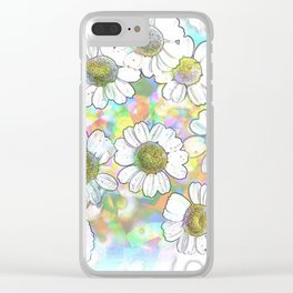 Spectrum of Flowers Clear iPhone Case