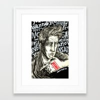 queens of the stone age Framed Art Prints featuring INSANE Josh Homme (QOTSA - Queens Of The Stone Age) by Unaitxo