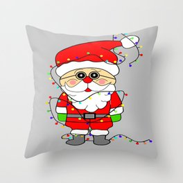 Silly Santa Throw Pillow